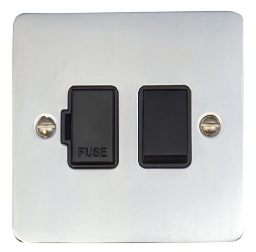 G&H FC57B Flat Plate Polished Chrome 1 Gang Fused Spur 13A Switched
